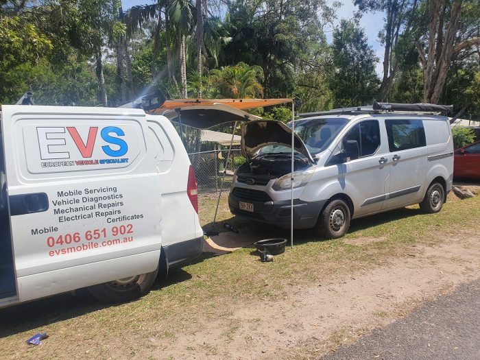 Replace ford transit Engine oil coller